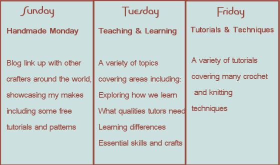 Blog timetable